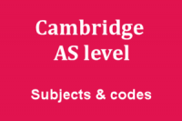 Cambridge International AS and A level subjects and codes